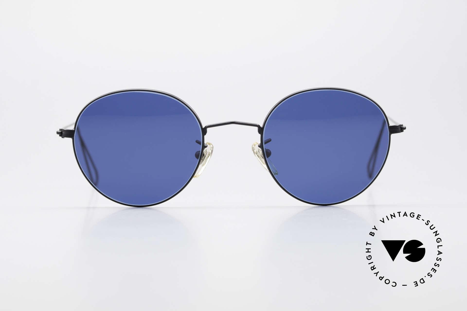 Cutler And Gross 0306 Runde 90er Vintage Brille, klassisch, zeitlose Understatement Luxus-Sonnenbrille, Passend für Herren und Damen