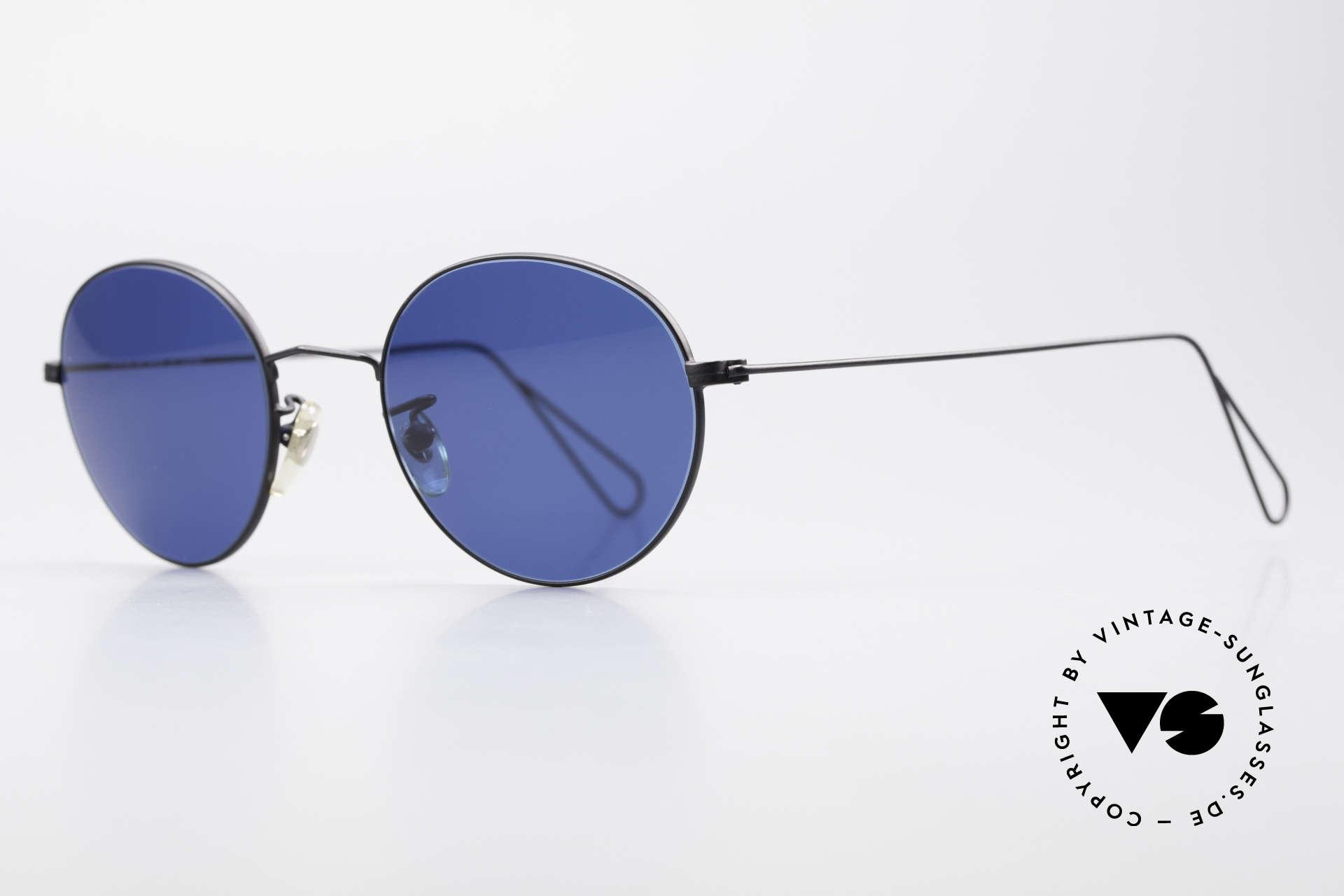 Cutler And Gross 0306 Runde 90er Vintage Brille, stilvoll & unverwechselbar; auch ohne pompöse Logos, Passend für Herren und Damen