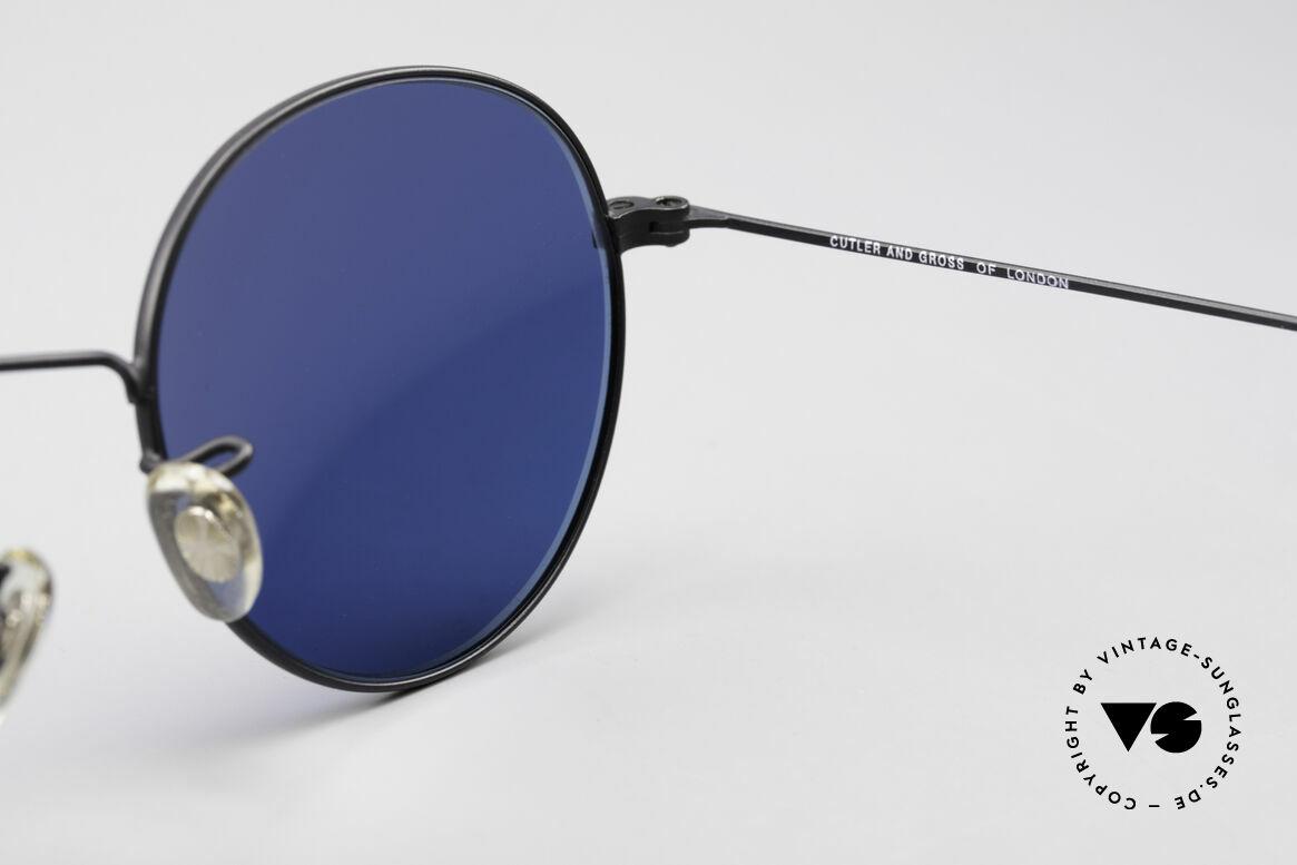 Cutler And Gross 0306 Runde 90er Vintage Brille, ungetragen; Modell ist auch beliebig optisch verglasbar, Passend für Herren und Damen