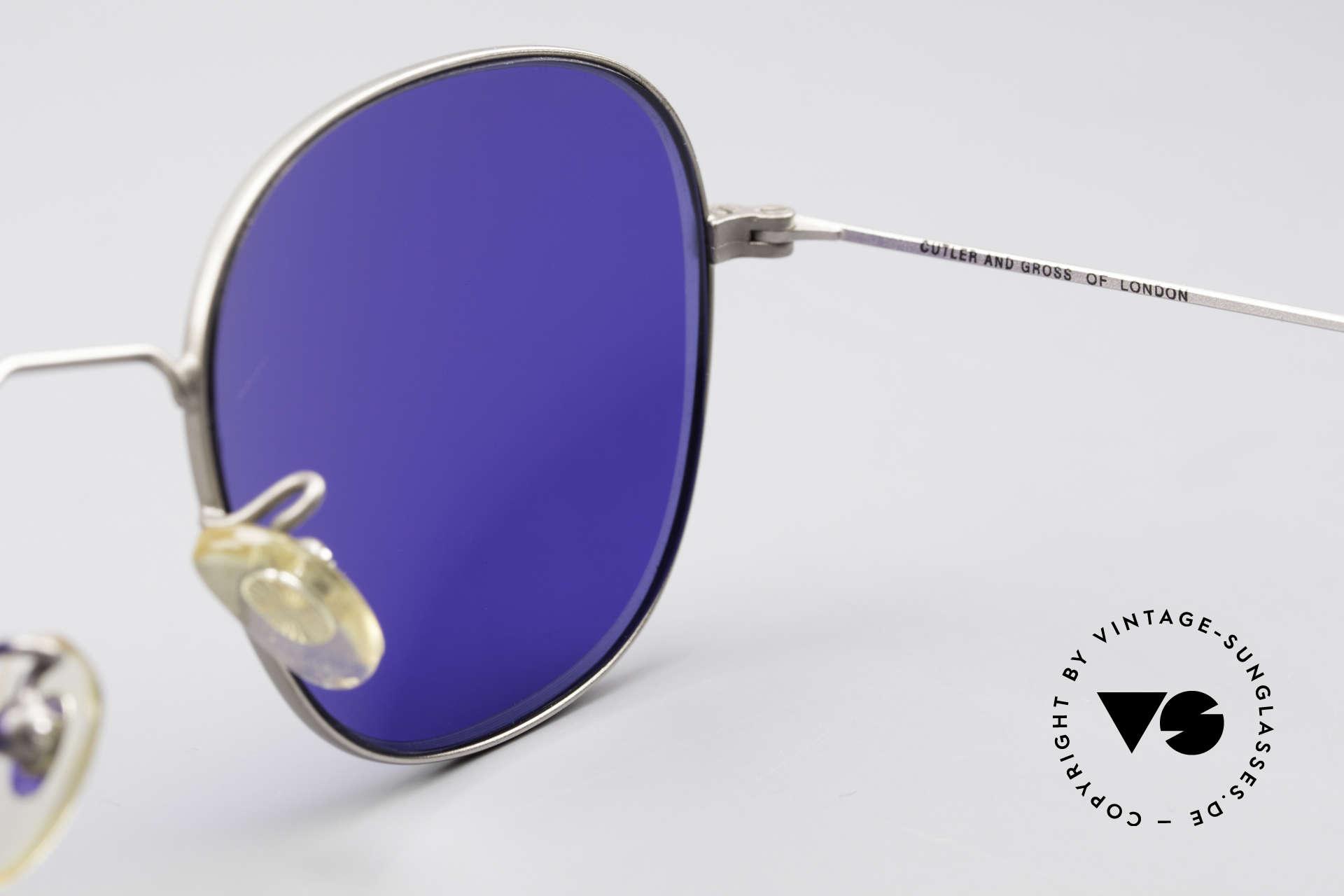 Cutler And Gross 0307 Klassische Vintage Brille 90er, ungetragen; Modell ist auch beliebig optisch verglasbar, Passend für Herren und Damen
