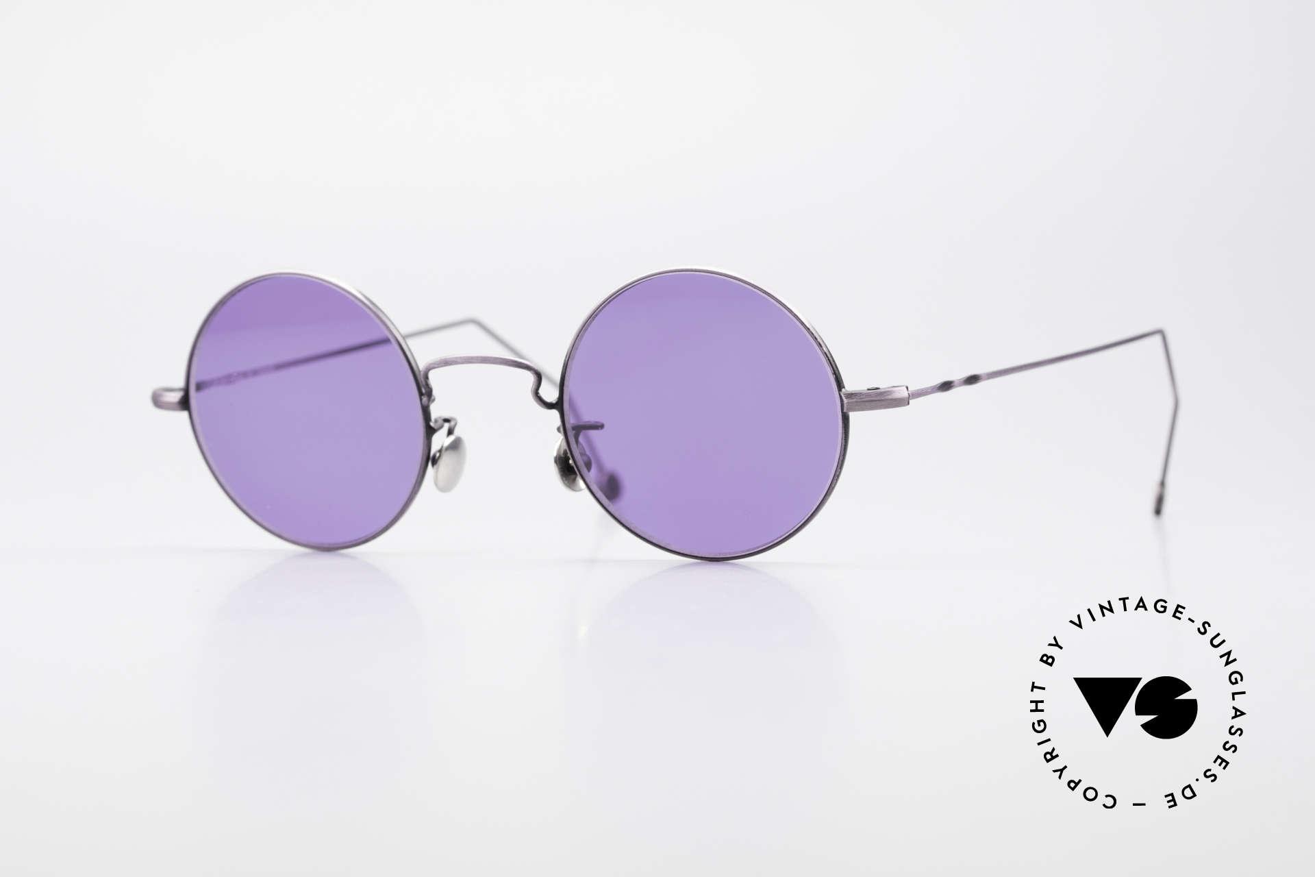 Cutler And Gross 0408 Runde Designer Vintage Brille, Cutler & Gross London Designerbrille der späten 90er, Passend für Herren und Damen