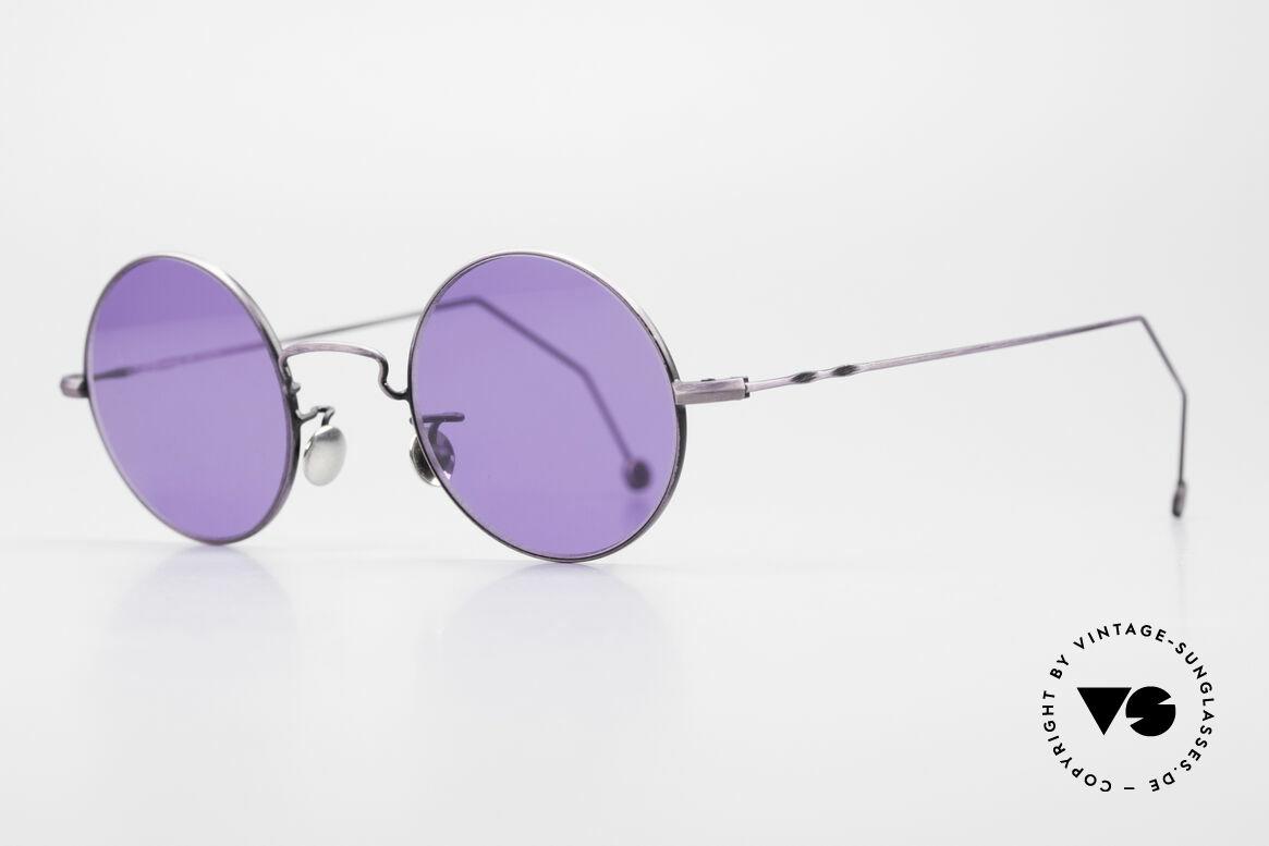 Cutler And Gross 0408 Runde Designer Vintage Brille, stilvoll & unverwechselbar; auch ohne pompöse Logos, Passend für Herren und Damen