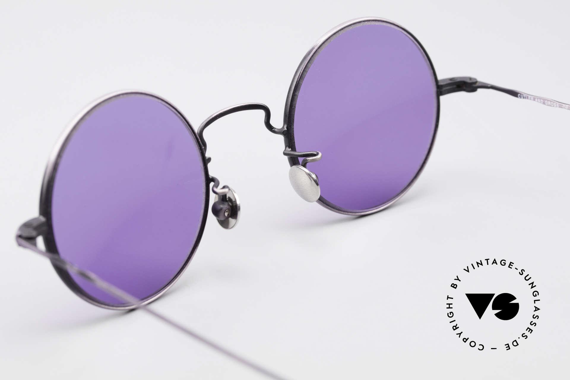 Cutler And Gross 0408 Runde Designer Vintage Brille, ungetragen; Modell ist auch beliebig optisch verglasbar, Passend für Herren und Damen