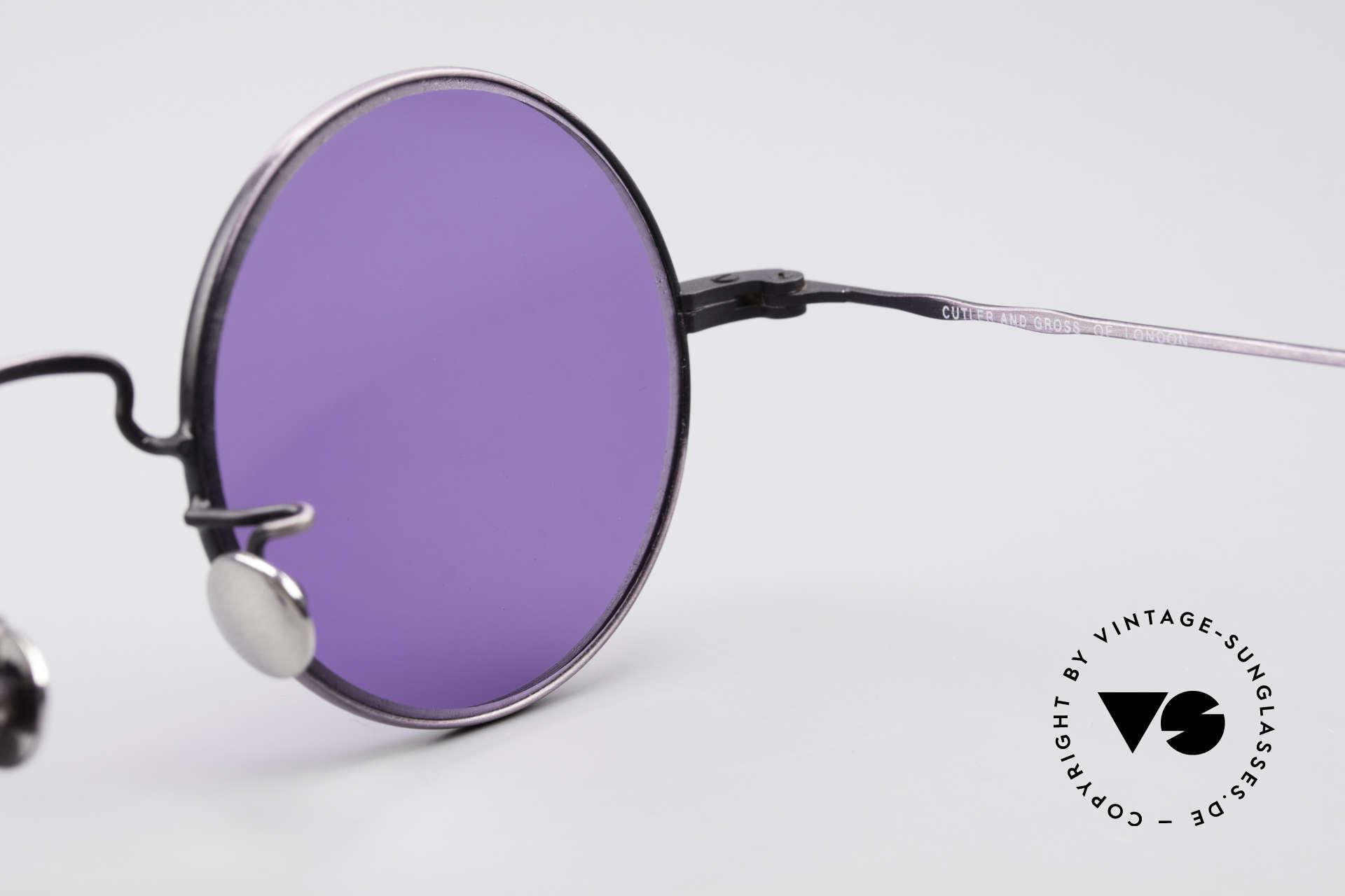 Cutler And Gross 0408 Runde Designer Vintage Brille, KEINE Retrobrille, sondern ein 20 Jahre altes Original!, Passend für Herren und Damen