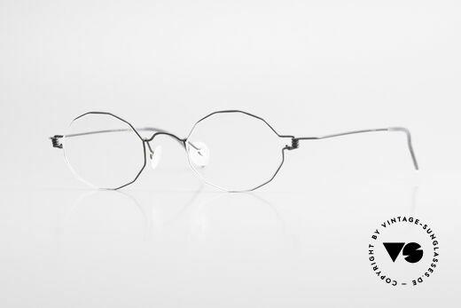 Lindberg Zeta Air Titan Rim Ovale Titanium Brille Unisex Details