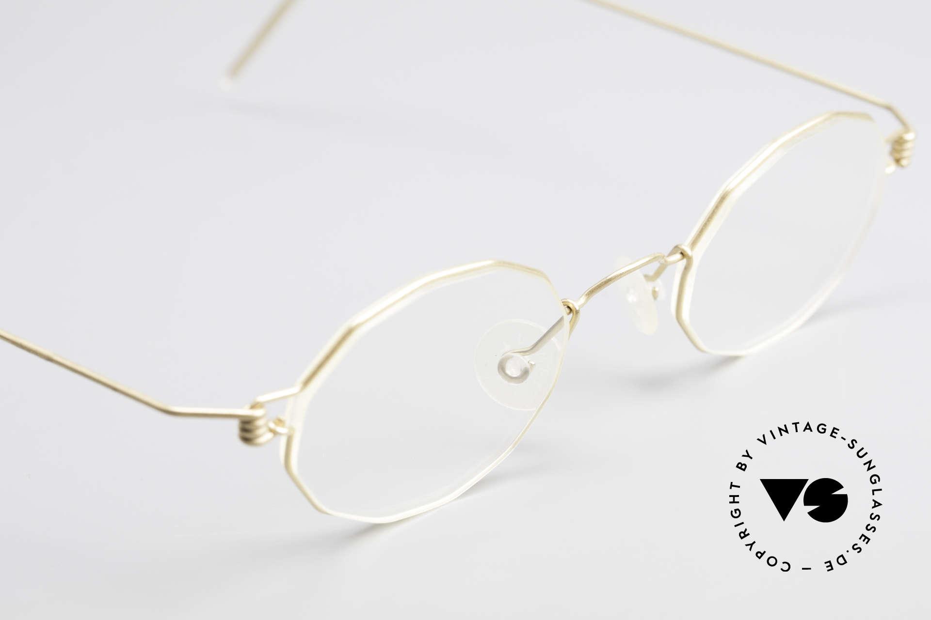 Lindberg Zeta Air Titan Rim Small Titanium Brille Unisex, eleganter Rahmen ohne Schrauben, Nieten oder Lötungen, Passend für Herren und Damen
