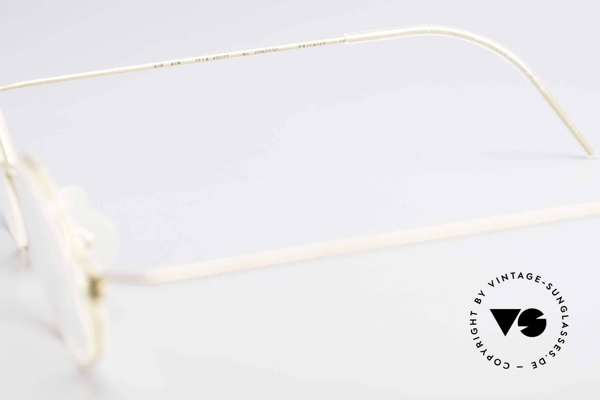 Lindberg Zeta Air Titan Rim Small Titanium Brille Unisex, Größe: small, Passend für Herren und Damen