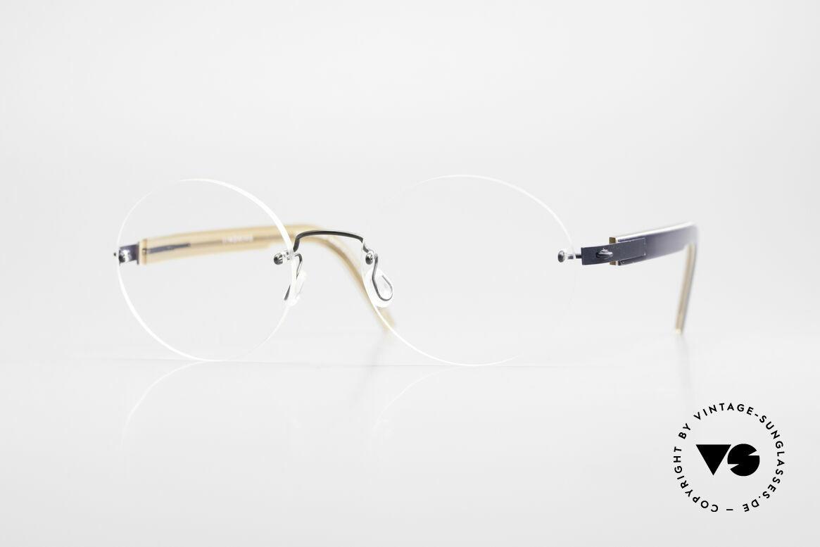 Lindberg 2111 Spirit Titan Randlose Titanium Brille Rund, LINDBERG Spirit Titanium Fassung in Größe 45-16, 135, Passend für Herren und Damen