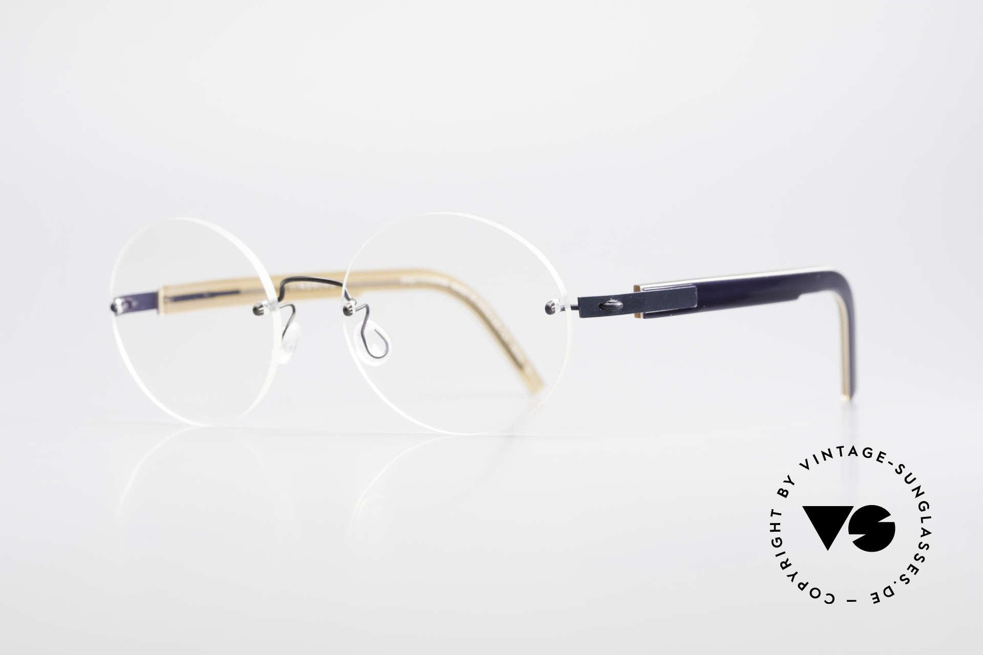 """Lindberg 2111 Spirit Titan Randlose Titanium Brille Rund, so zeitlos, stilvoll und innovativ = Prädikat """"VINTAGE"""", Passend für Herren und Damen"""