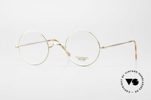 Oliver Peoples OP84BG Kleine Designer Brille Rund Details