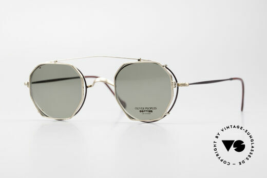Oliver Peoples OP80BG 90er Vintage Brille Mit Clip On Details