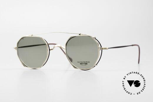 Oliver Peoples OP80BG 90er Vintage Brille Mit Clip On Details