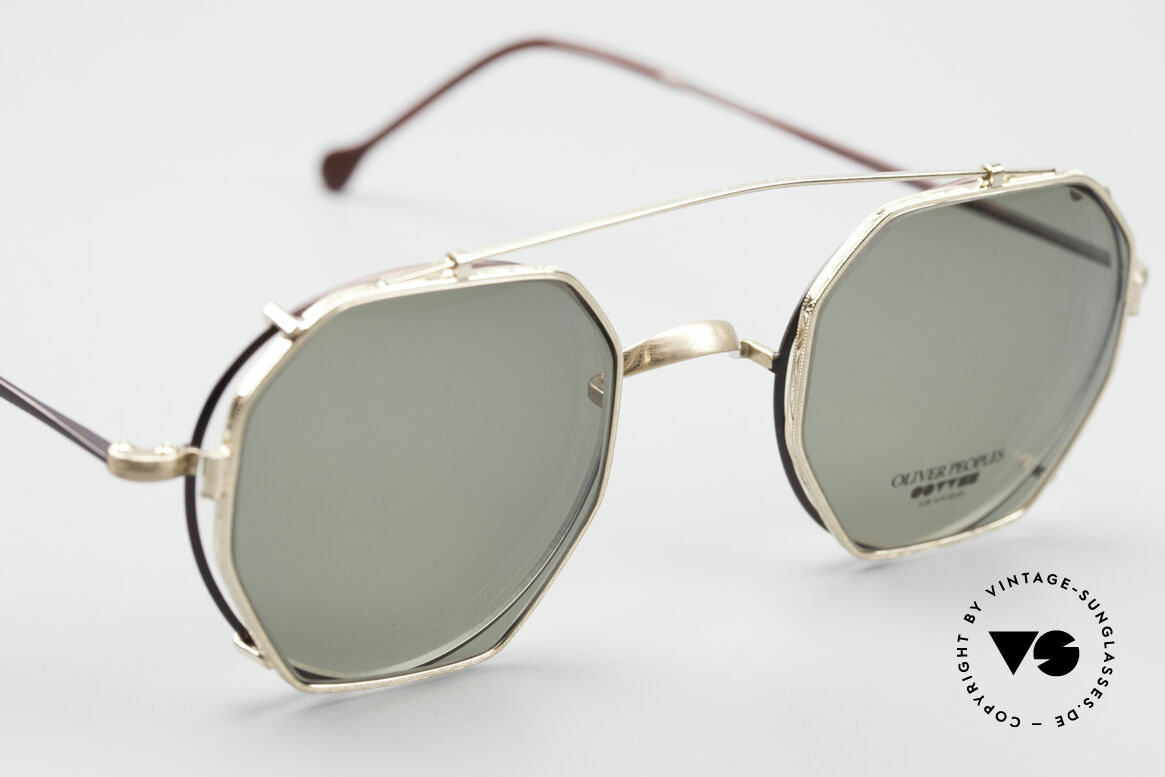 Oliver Peoples OP80BG 90er Vintage Brille Mit Clip On