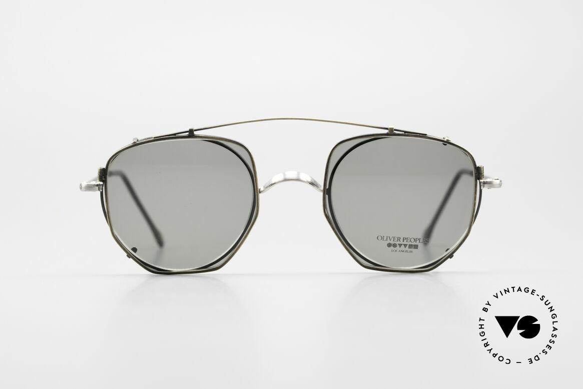 Oliver Peoples OP80BC Runde Brille Eckiger Clip On, 1986 gegründet & vom Esprit Los Angeles beeinflusst, Passend für Herren und Damen