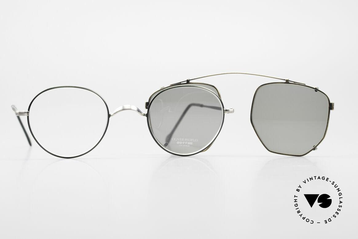 Oliver Peoples OP80BC Runde Brille Eckiger Clip On, Größe: small, Passend für Herren und Damen