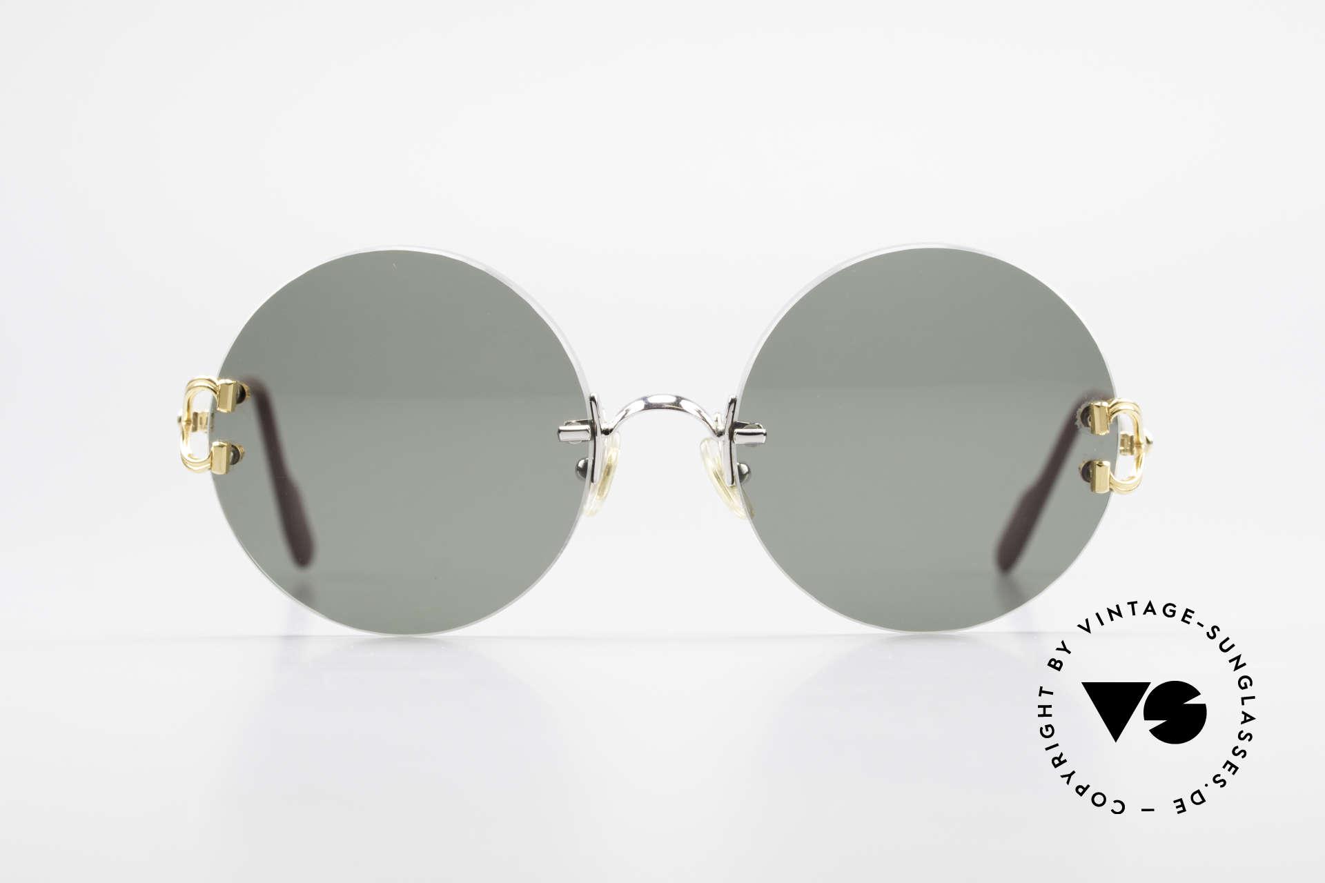 Cartier Madison Runde Customized Sonnenbrille, Modell aus der 'Rimless Collection', Gr. Medium, Passend für Herren und Damen