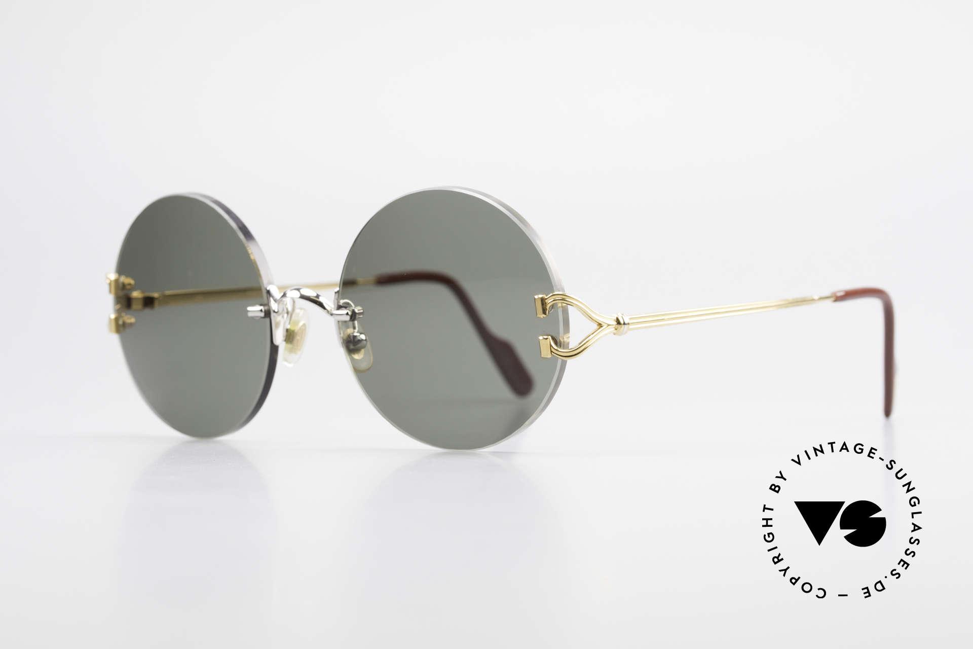 Cartier Madison Runde Customized Sonnenbrille, teures ORIGINAL in scheinbar zeitlosem Design, Passend für Herren und Damen