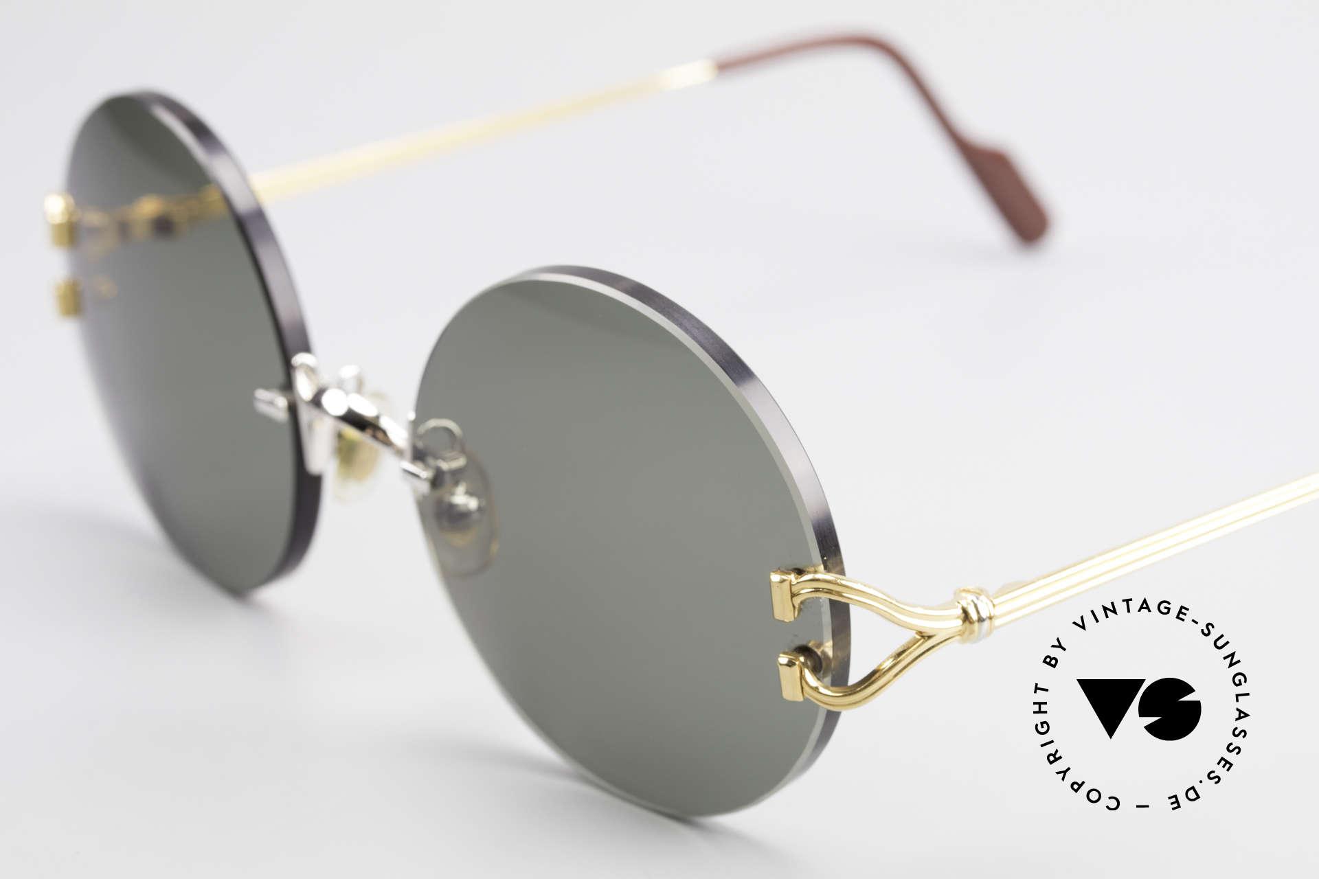 Cartier Madison Runde Customized Sonnenbrille, 2nd hand Modell in neuwertigem Zustand + Box, Passend für Herren und Damen