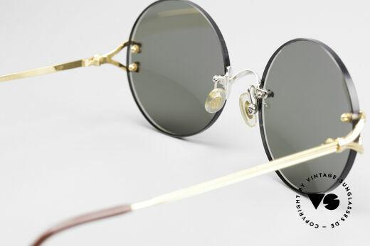Cartier Madison Runde Customized Sonnenbrille, CUSTOMIZED Edition in bicolor (gold und silber), Passend für Herren und Damen