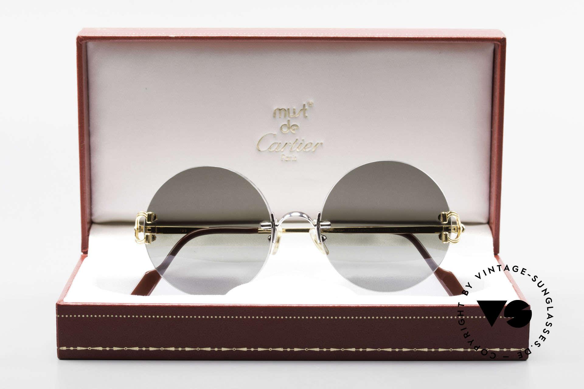Cartier Madison Runde Customized Sonnenbrille, KEINE Retromode, sondern ein altes ORIGINAL!, Passend für Herren und Damen