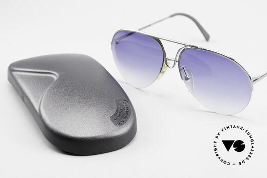 Porsche 5627 90er Aviator Sonnenbrille, Sonnengläser in blau-Verlauf mit 100% UV Schutz, Passend für Herren