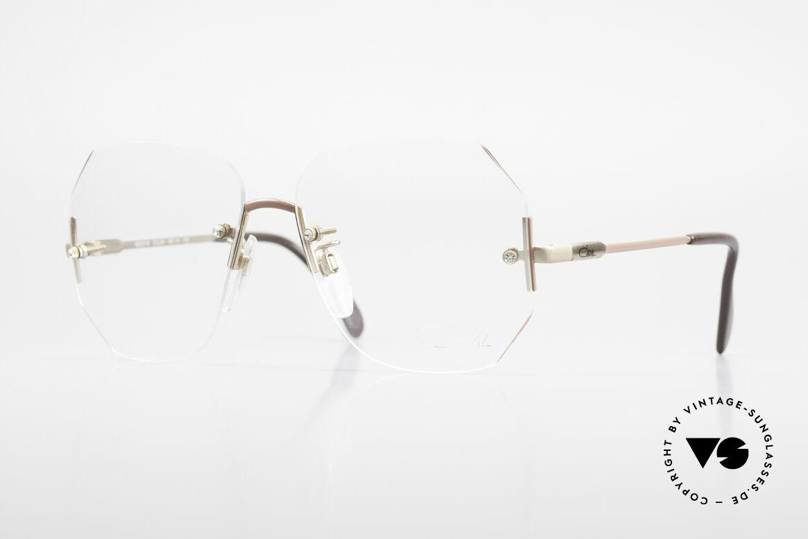 Cazal 216 Randlose Vintage Brille Damen, Damenbrille von CAZAL 'made in W. Germany', Passend für Damen