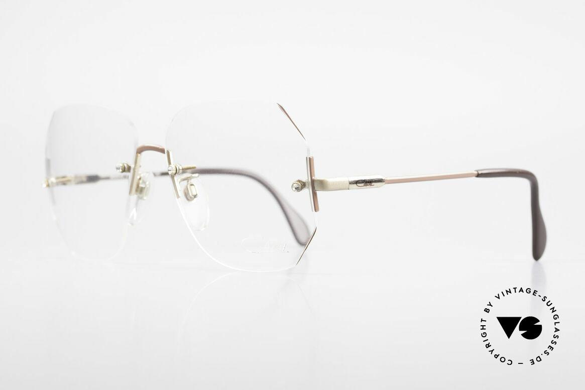 Cazal 216 Randlose Vintage Brille Damen, stilvolle Ausführung - ein echtes Modezubehör!, Passend für Damen