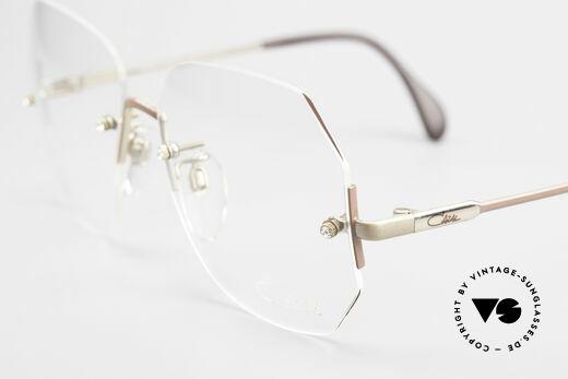 Cazal 216 Randlose Vintage Brille Damen