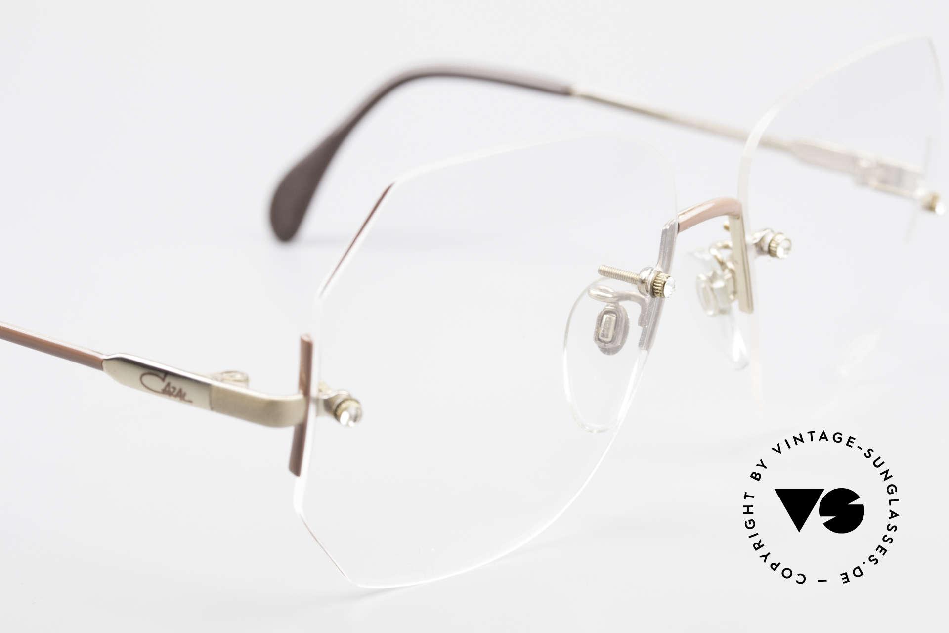 Cazal 216 Randlose Vintage Brille Damen, ungetragen (wie alle unsere alten Cazal Brillen), Passend für Damen