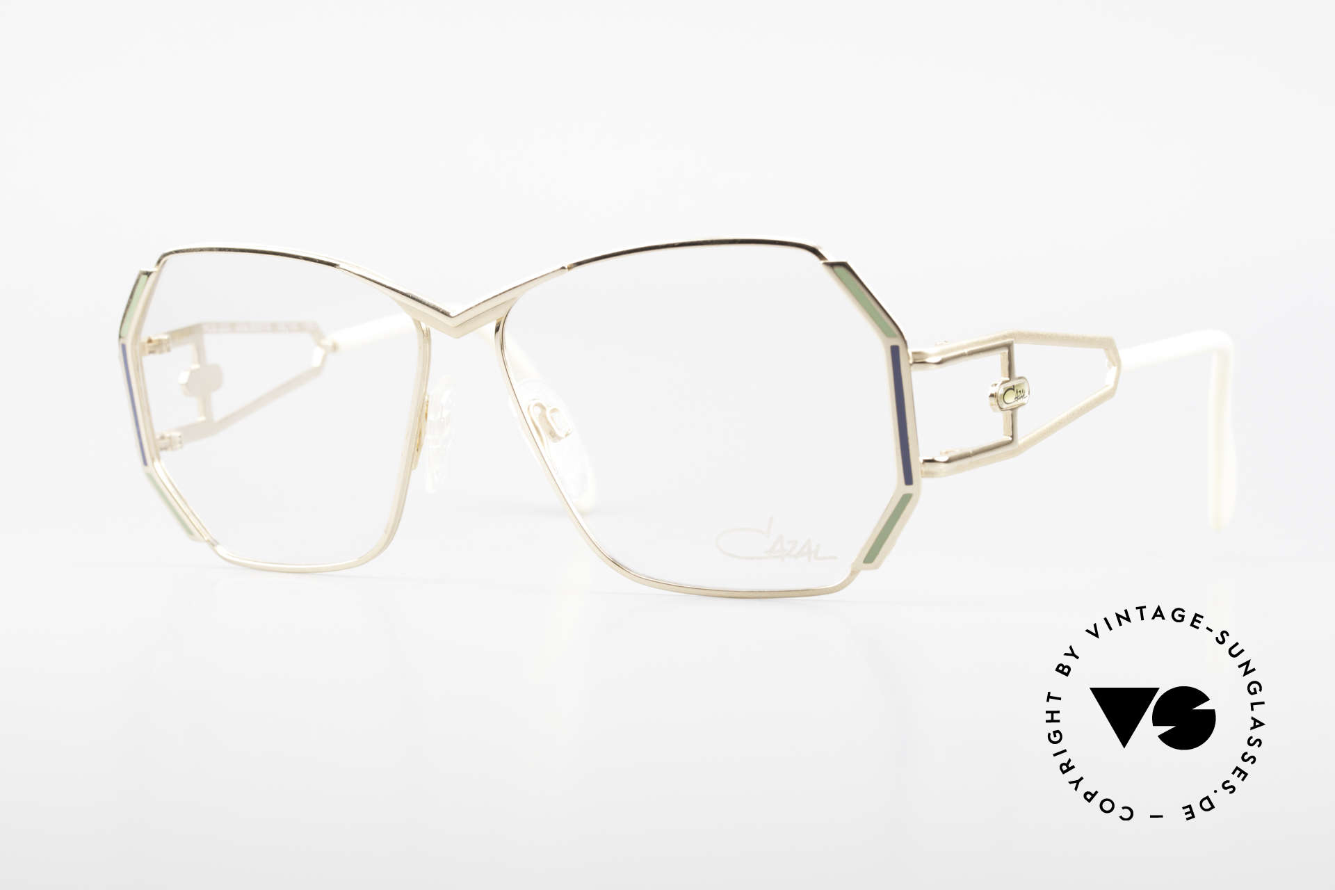 Cazal 225 Old School 80er HipHop Brille, markante CAZAL vintage Brillenfassung von 1989/90, Passend für Damen