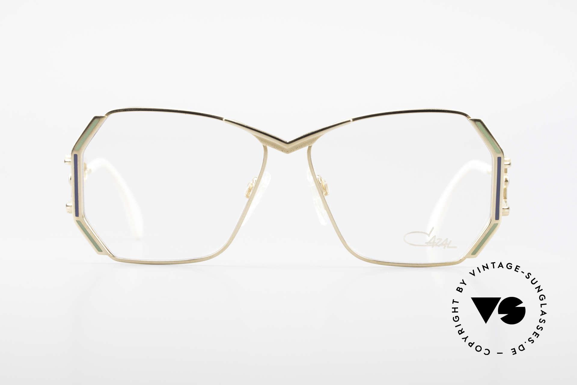 Cazal 225 Old School 80er HipHop Brille, tolles Design von Cari Zalloni mit auffälligen Bügeln, Passend für Damen