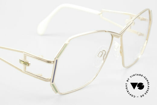 Cazal 225 Old School 80er HipHop Brille, die Fassung ist für optische (Sonnen)-Gläser geeignet, Passend für Damen