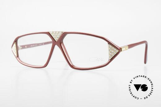 Cazal 199 80er Jahre Strass Brille Damen Details