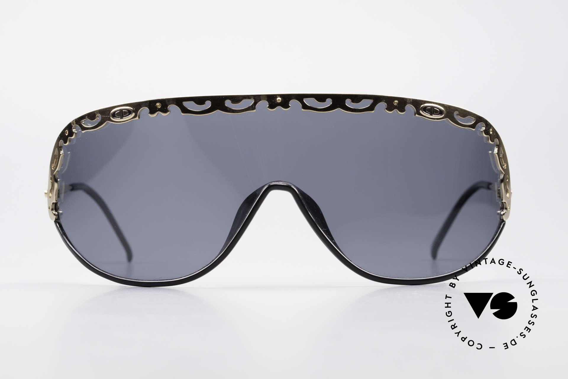Christian Dior 2501 80er Sonnenbrille Polarized, eine durchgehende Scheibe in Gr. XL (Panorama-View), Passend für Damen