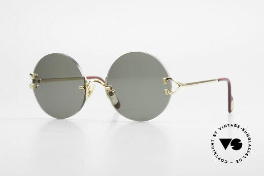 Cartier Madison Runde Luxus Sonnenbrille 90er Details