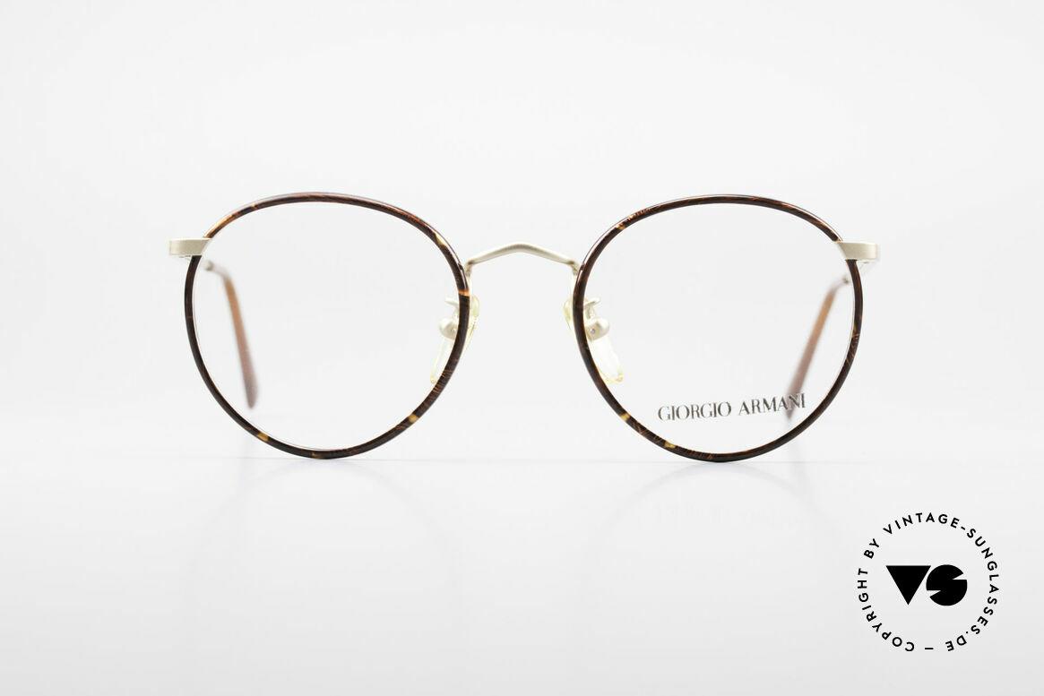 Giorgio Armani 145 Zeitlose Vintage Pantobrille, zeitlose Giorgio Armani Brillenfassung aus den 80ern, Passend für Herren