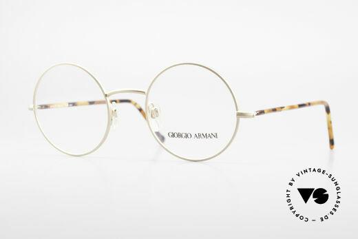 Giorgio Armani 117 Runde Vintage Brille No Retro Details