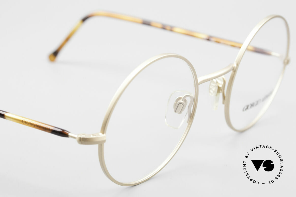 Giorgio Armani 117 Runde Vintage Brille No Retro