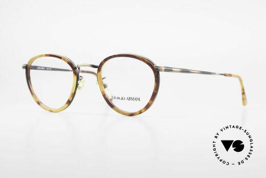 Giorgio Armani 101 Alte Panto Brille Herren 80er Details