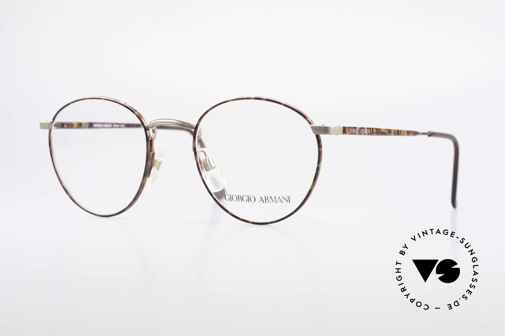 Giorgio Armani 166 No Retro Brille 80er Panto, Panto GIORGIO Armani vintage Designer-Fassung, Passend für Herren