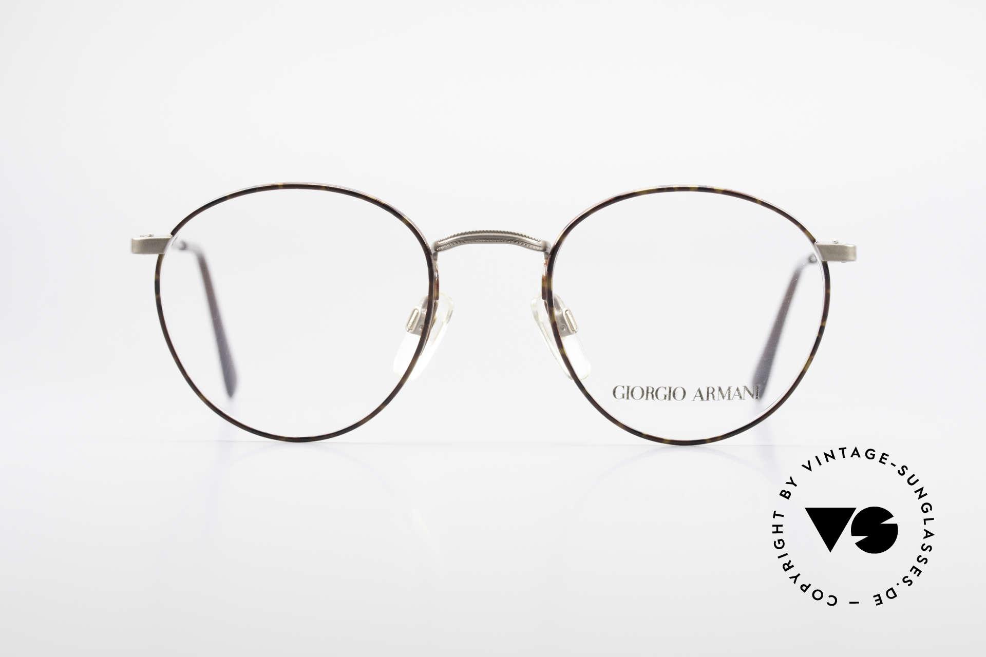 Giorgio Armani 166 No Retro Brille 80er Panto, zeitloses 80er Jahre Modell in Premium-Qualität, Passend für Herren