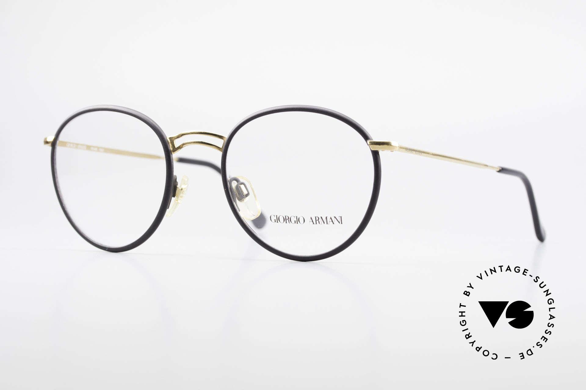 Giorgio Armani 152 Runde Vintage Brille Herren, zeitlose vintage Giorgio Armani Designer-Fassung, Passend für Herren
