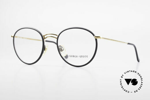 Giorgio Armani 152 Runde Vintage Brille Herren Details