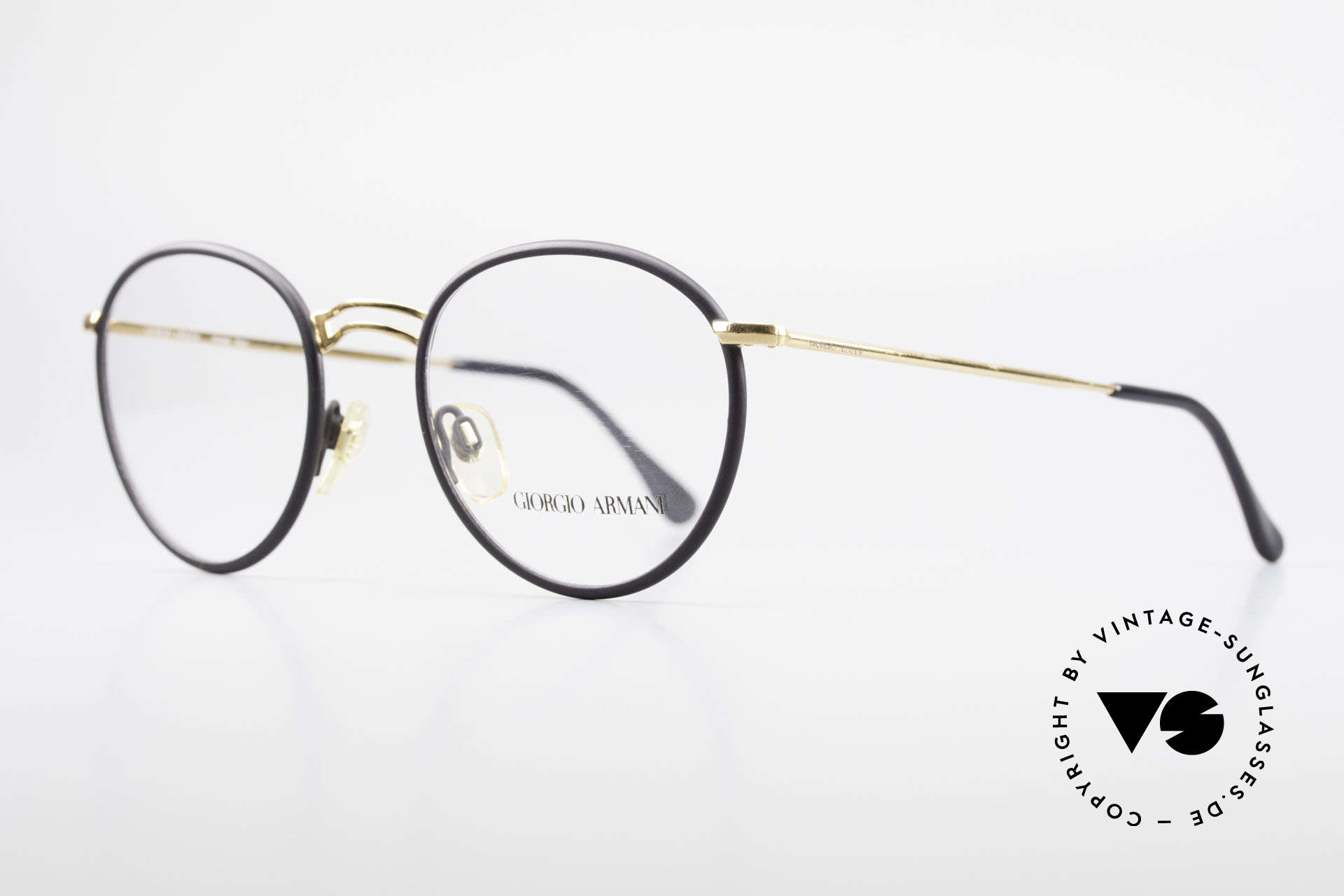 Giorgio Armani 152 Runde Vintage Brille Herren, wahre 'Gentlemen-Brille' in echter Premium-Qualität, Passend für Herren