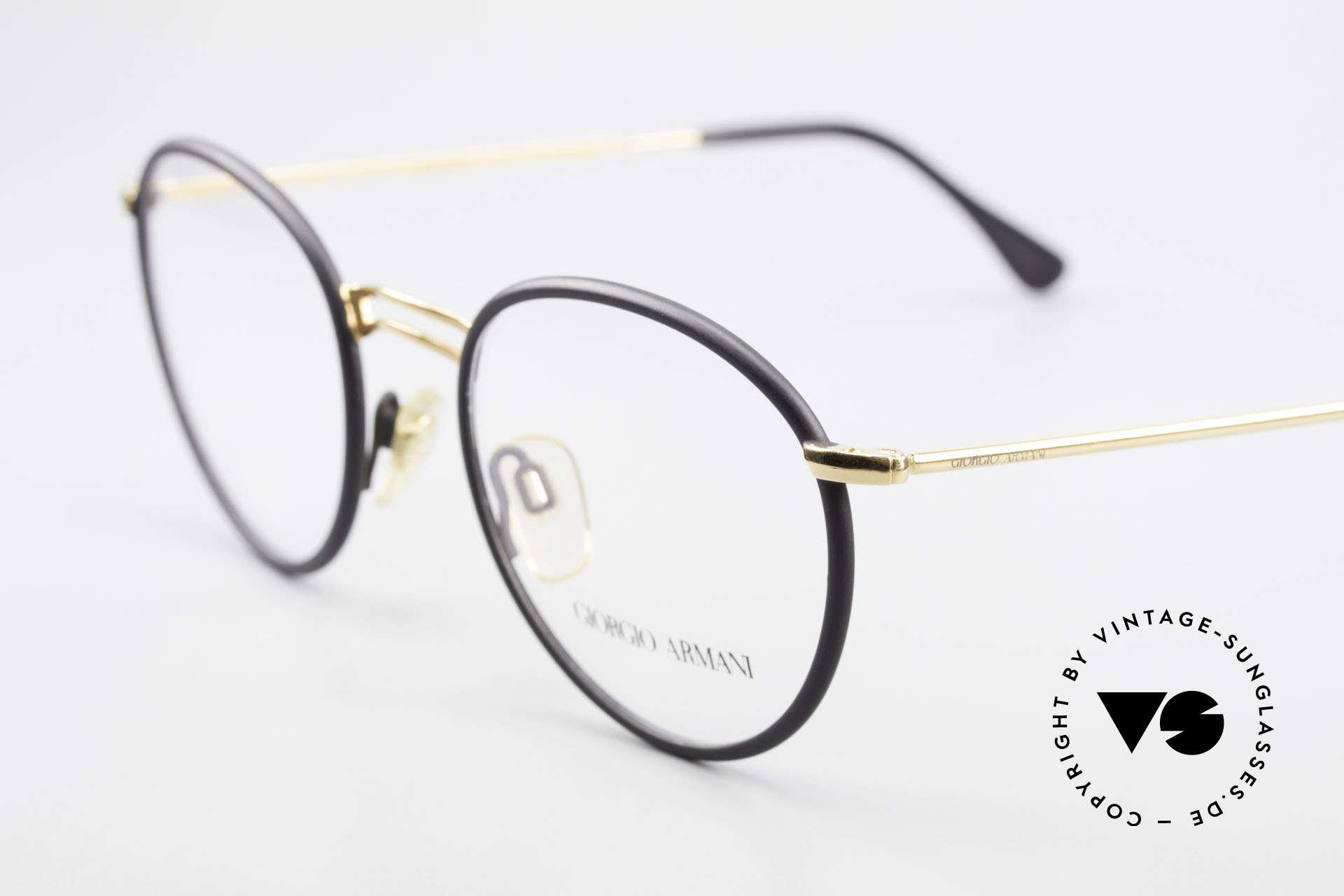 Giorgio Armani 152 Runde Vintage Brille Herren, ungetragen; wie all unsere 90er Jahre Designklassiker, Passend für Herren