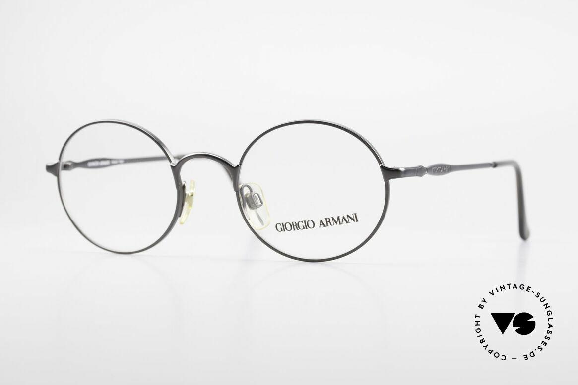 Giorgio Armani 243 Kleine Rund Ovale Brille 90er, alte vintage Brille vom Modedesigner G.Armani, Passend für Herren und Damen