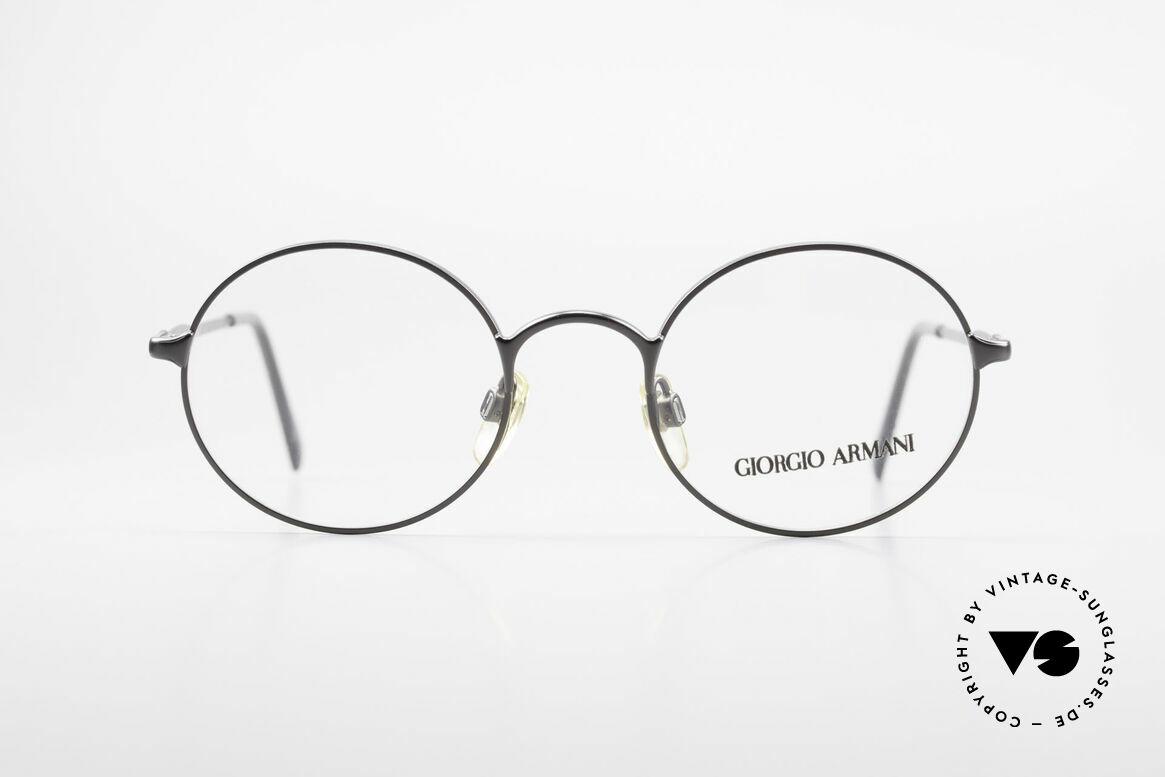 Giorgio Armani 243 Kleine Rund Ovale Brille 90er, schlichter, runder Rahmen in KLEINER Größe!, Passend für Herren und Damen