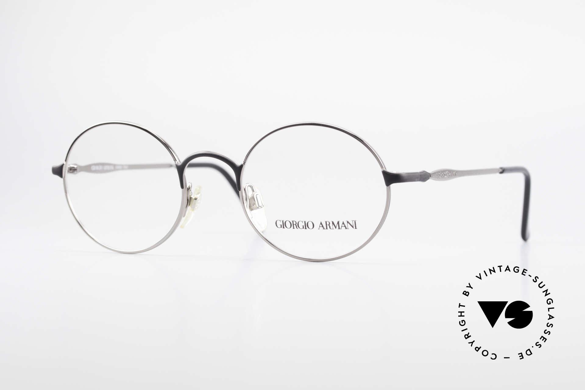 Giorgio Armani 243 Runde Ovale Brille 90er Small, alte vintage Brille vom Modedesigner G.Armani, Passend für Herren und Damen