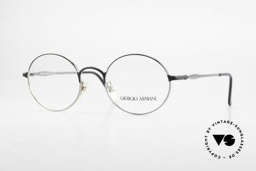 Giorgio Armani 243 Runde Ovale Brille 90er Small Details