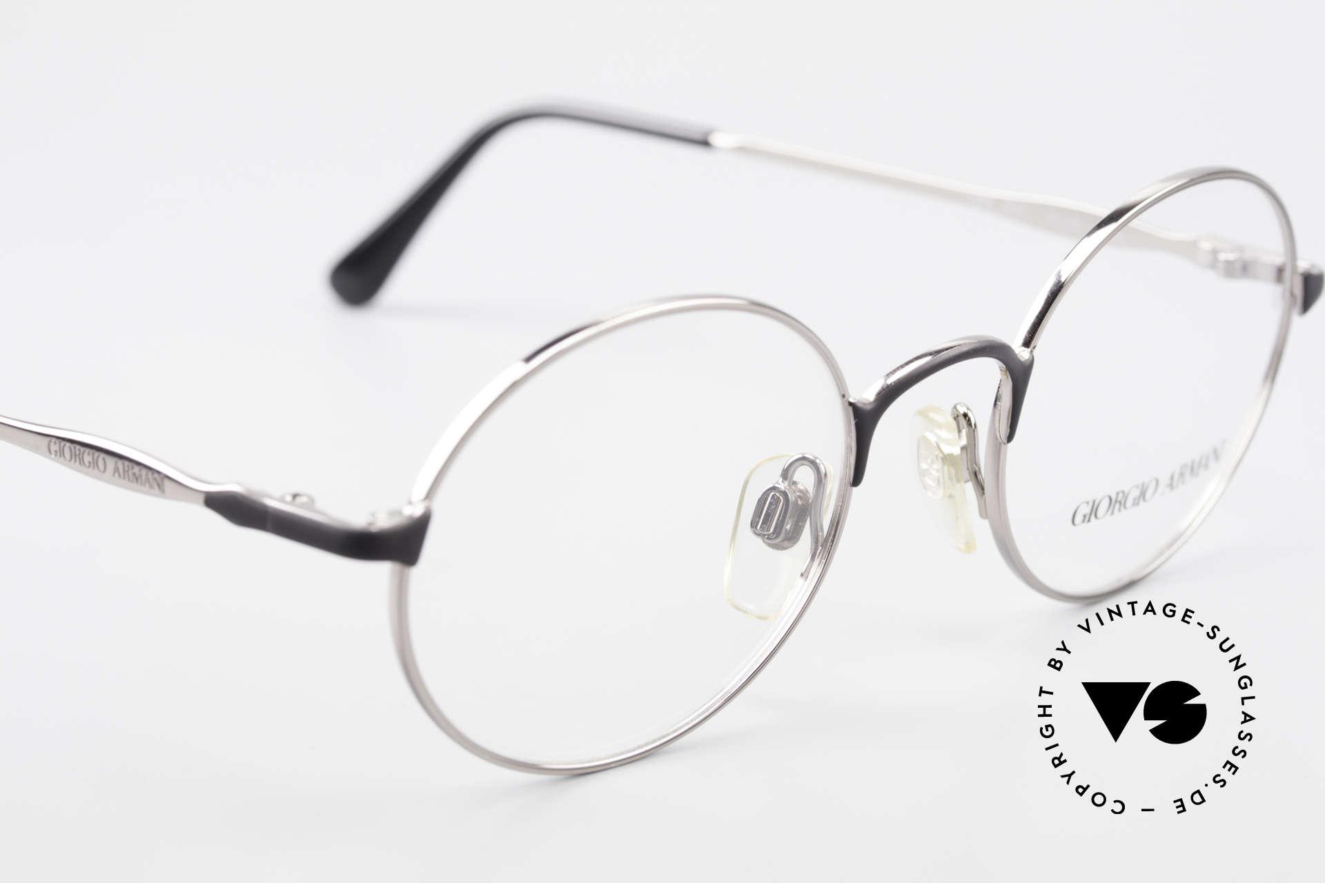 Giorgio Armani 243 Runde Ovale Brille 90er Small, keine aktuelle Kollektion; ein 25 J. altes Original, Passend für Herren und Damen